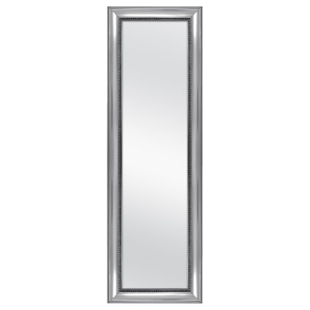 Mainstays Over-the-Door Wall Mirror, Silver Ornate Finish, 17