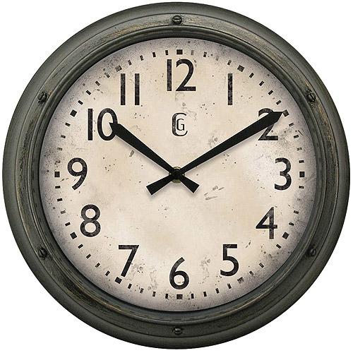 "Geneva Decor Clocks 12"" Plastic Wall Clock by Geneva"