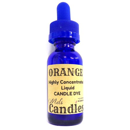 Orange Liquid Candle Dye - 1oz Amber Glass Dropper Bottle with Childproof Lid Premium Dye for All Waxes Exp Soy Wax - Beer Bottle Candles