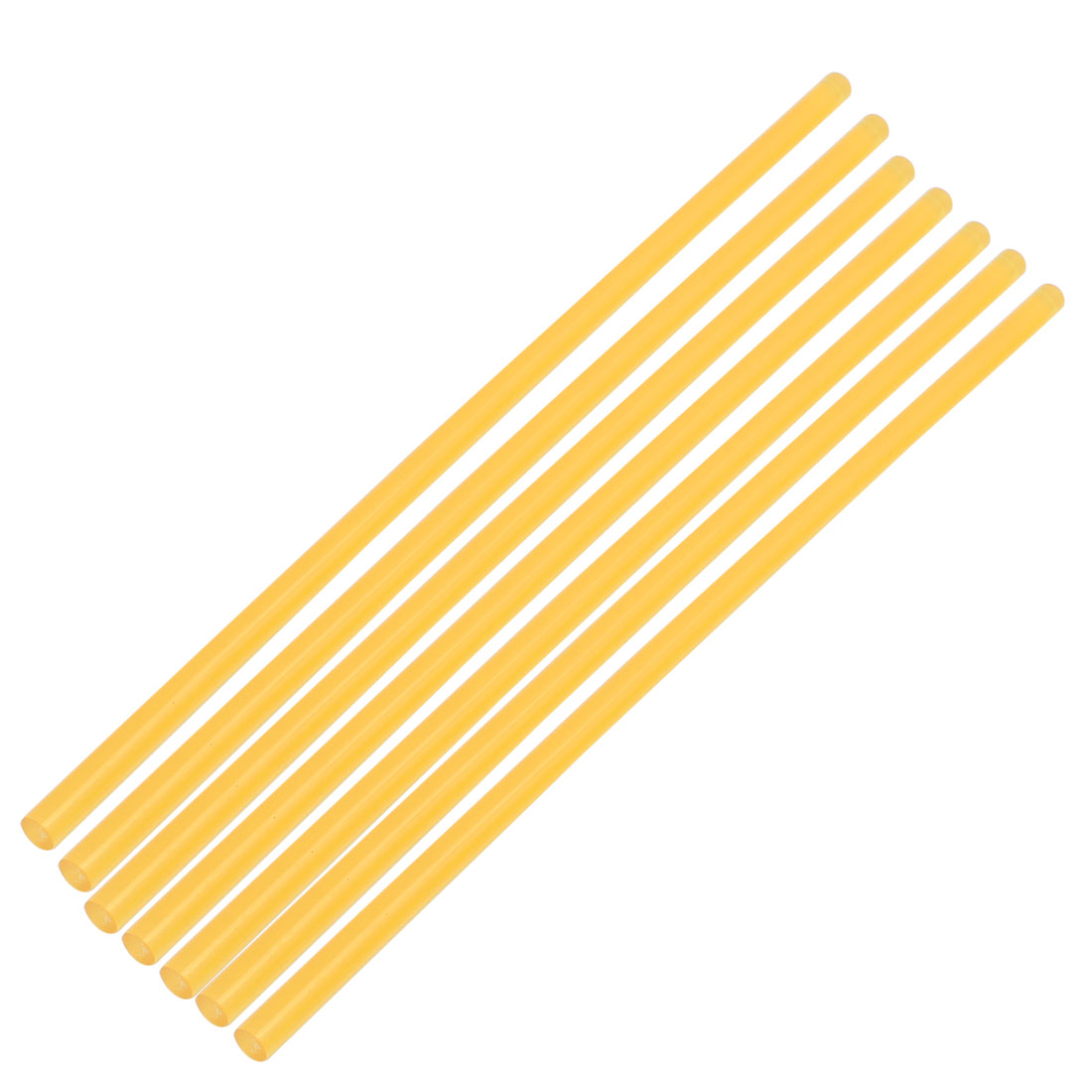 7Pcs 7 x 270mm Hot Melt Glue Adhesive Stick Yellow for Electric Tool Heating