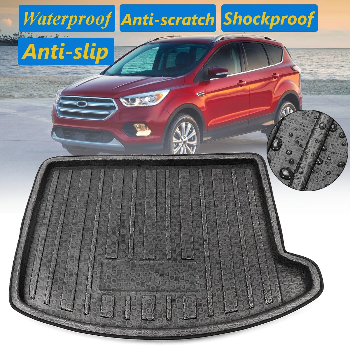 New Car Mat Car Boot Pad Trunk Cargo Liner Cargo Cover Cargo Mat Tray Floor Protector Mat Fit For Ford Escape 2013 2014 2015 2016 2017 2018 2019 Cargo Liners