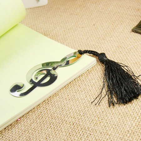 Music Note Alloy Bookmark Novelty Ducument Book Marker Label Stationery ()
