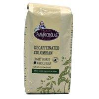 PapaNicholas Coffee Decaffeinated Colombian Supremo Whole Bean 12oz Bag