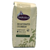 PapaNicholas Coffee Decaffeinated Colombian Supremo Whole Bean 12oz Bag