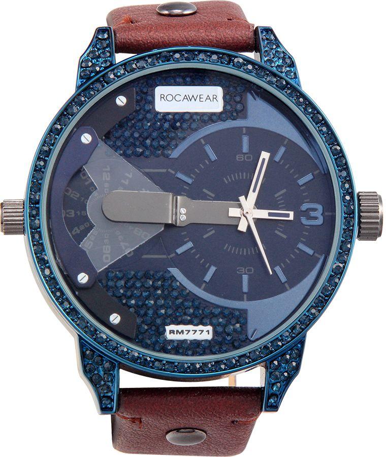 Rocawear watch navy dial leather band quartz movement jpeg 450x450 Roca wear a3a210c06