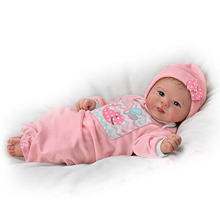 Violet Parker Lifelike Baby Girl Doll Weighted for Realism by The Ashton-Drake (Ashton Drake Infant Doll)