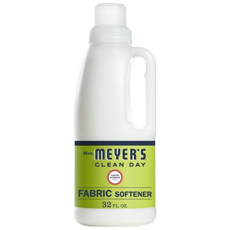 Mrs. Meyer's Clean Day Liquid Fabric Softener, Lemon Verbena Scent, 32 ounce bottle