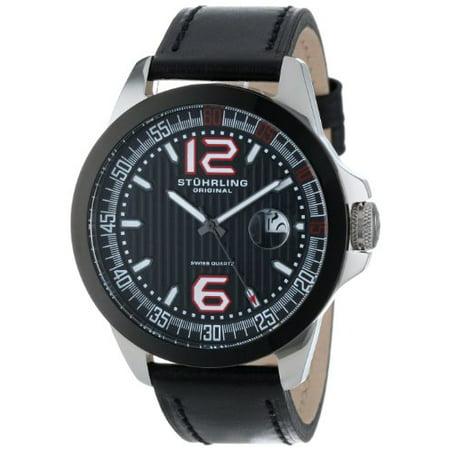 Stuhrling 175C 332D51 Men's Octane Grand Concorso Swiss Quartz Date Watch Day Date Wenger Swiss Watch