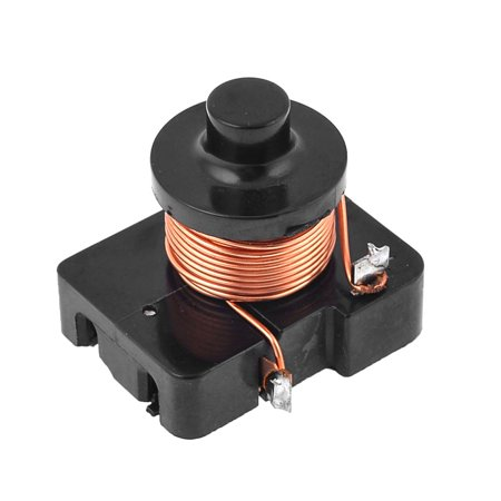 Unique Bargains Black 1/3 HP Refrigerator Parts Electromagnetic Compressor  PTC Starter Relay