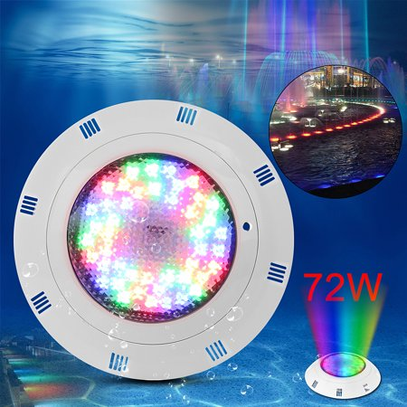 12V 72W RGB Swimming Pool LED Light Bright Lamp Underwater Powerful Colour  Light 2 Wire With Remote Control
