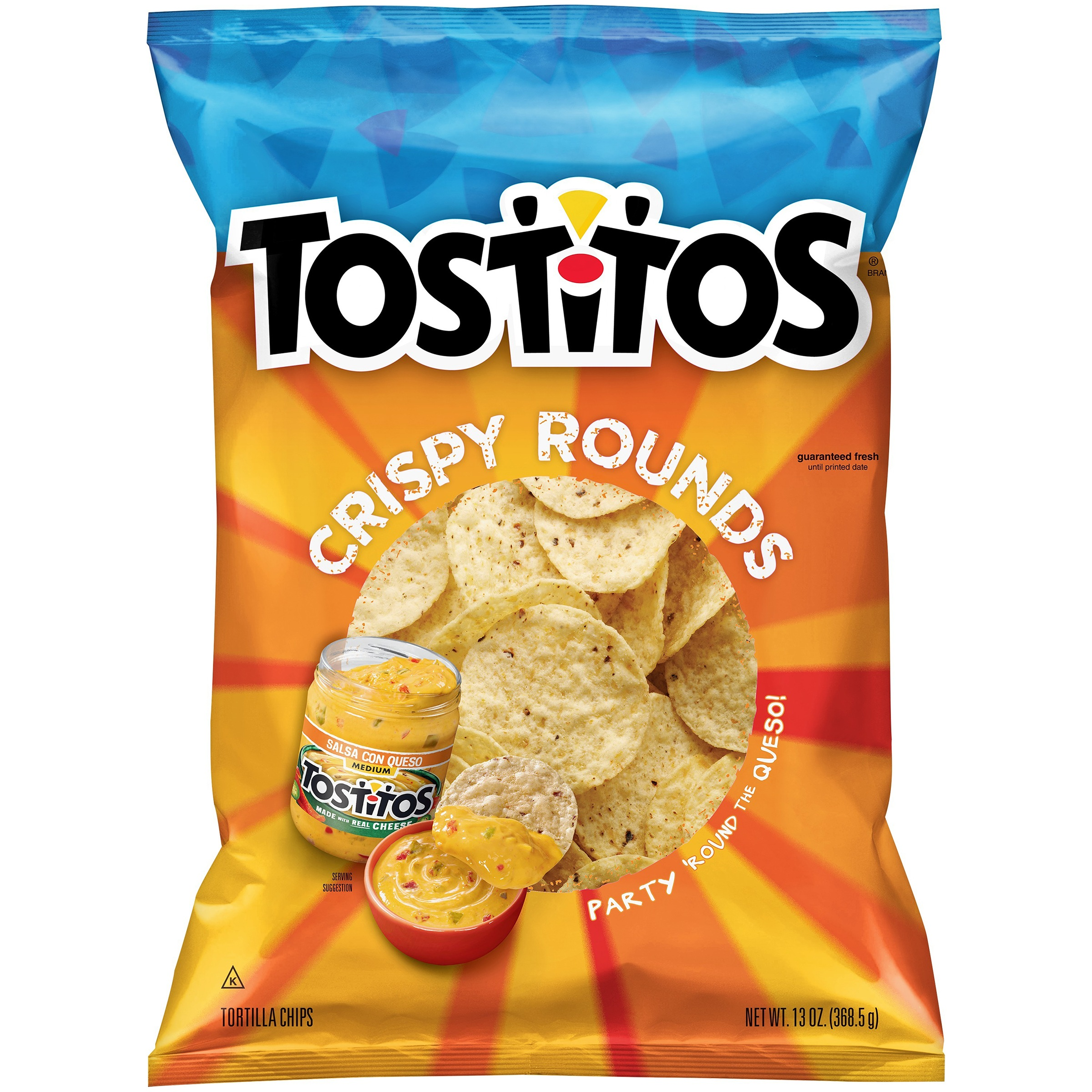 Tostitos Crispy Rounds Tortilla Chips, 13 oz Bag