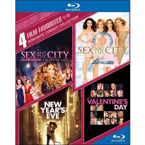 4 Film Favorites: Romantic Comedy Collection - Sex And The City / Sex And The City 2 / New Year's Eve / Valentine's Day (Blu-ray)