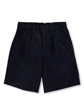 Universal Basic Unisex Pleated Shorts (Husky Sizes 8 - 20) (Big Boys Husky)