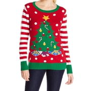 Ugly Christmas Sweater Geen Womens Medium Knitted Sweater