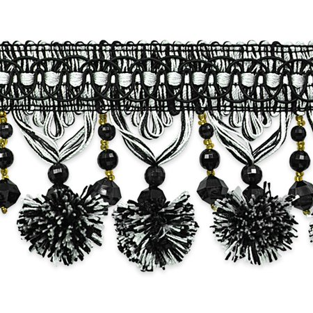 Expo Int'l 20 yards of Zoe Ball & Bead Tassel Fringe by the yard](Zoe Ball In Leather)