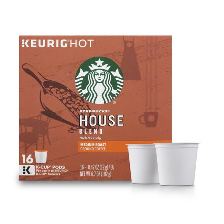 Starbucks House Blend Medium Roast Single Cup Coffee For Keurig Brewers  1 Box Of 16  16 Total K Cup Pods
