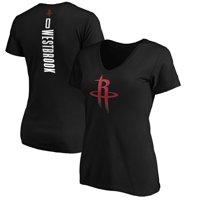 Russell Westbrook  Houston Rockets Fanatics Branded Women's Playmaker Name & Number V-Neck T-Shirt - Black