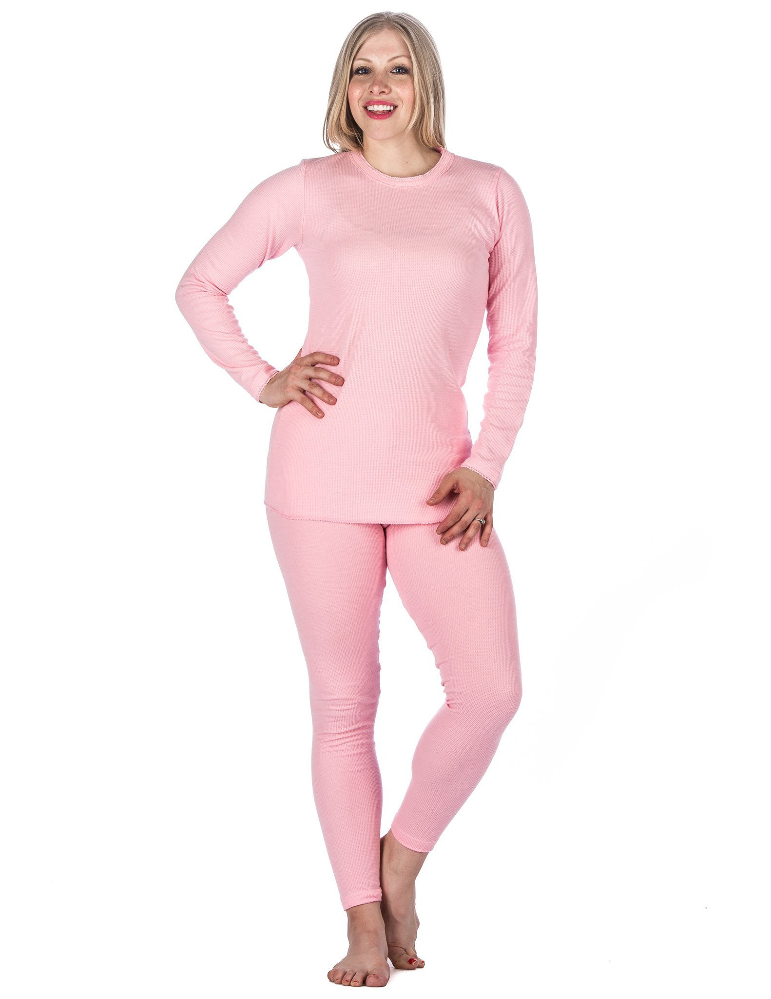 Noble Mount Women's Extreme Cold Waffle Knit Thermal Baselayer Set