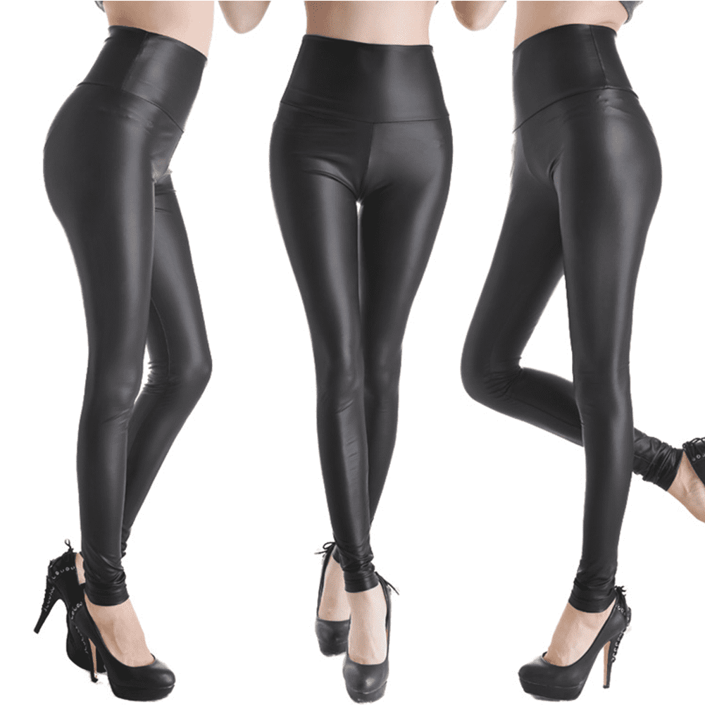 Faux Leather Black Leggings