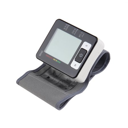 Automatic Digital Wrist Blood Pressure Upper Monitor Heart Meter Lcd Screen