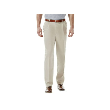 Haggar Men's Work To Weekend® Khaki Pleat Front Pant Classic Fit 41114957524 Classic Fit Pleated Khaki