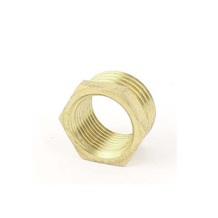 1/2PT x 3/8PT M/F Thread Brass Pipe Hex Reducer Bushing Connector Adapter