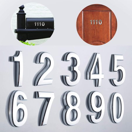 Barton 10PCS Self Adhesive Door House Numbers & Street Address Plaques Numbers for Residence Mailbox Signs 4