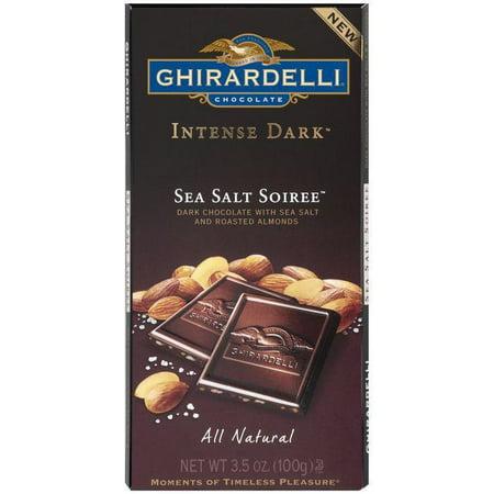 Ghirardelli Chocolate Intense Dark Sea Salt Soiree Chocolate 3.5 Oz Bar (Pack of 12) - Soiree Halloween Mix Bar