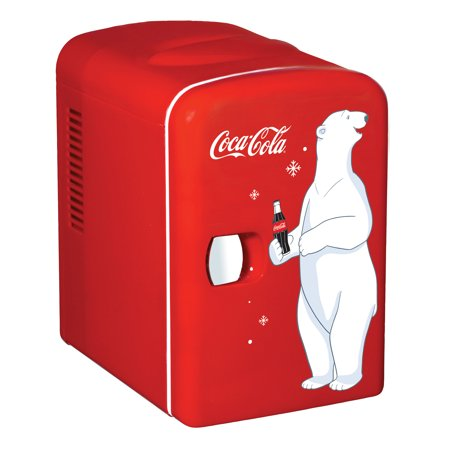 Yellow Refrigerator - Coca-Cola Personal 6 Can Portable Mini Fridge with Warming, Red