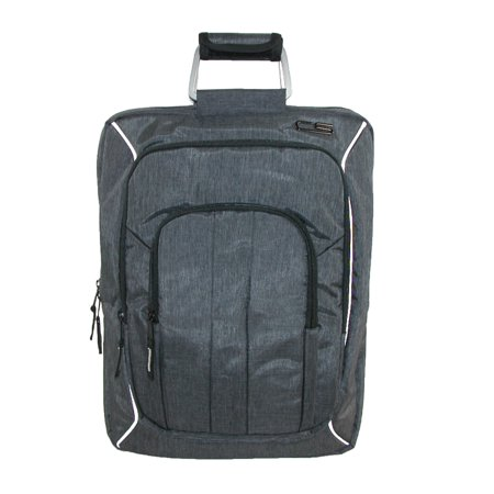 Carbon Sesto  Mens Odyssey Convertible Bag to Backpack, Grey