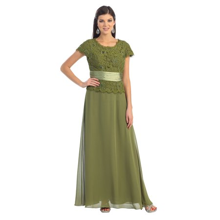 5dc8c56c7f7 May Queen - CLASSY SHORT SLEEVE MOTHER OF THE BRIDE GROOM DRESS -  Walmart.com