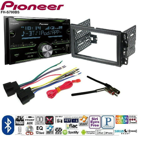 Buick Radio - Pioneer Double DIN CD Receiver Built-in Bluetooth, and SiriusXM-Ready Car Radio Stereo 2-Din Dash Kit Harness for 2006-16 Buick Chevrolet GMC Pontiac
