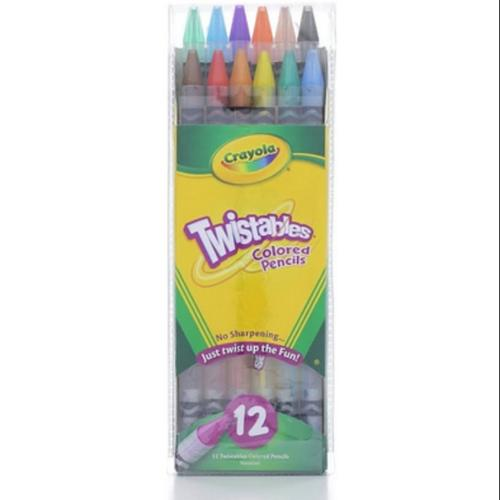 Crayola Twistables Colored Pencils, Assorted Colors 12 ea (Pack of 3)