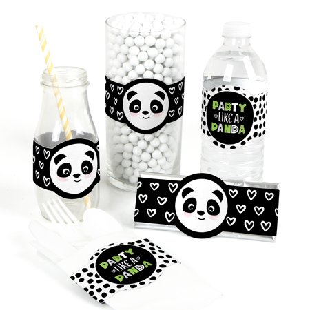 Party Like a Panda Bear - DIY Party Supplies - Plane Baby Shower or Birthday Party DIY Wrapper Favors & Decor-15 Ct](Panda Bear Party Supplies)