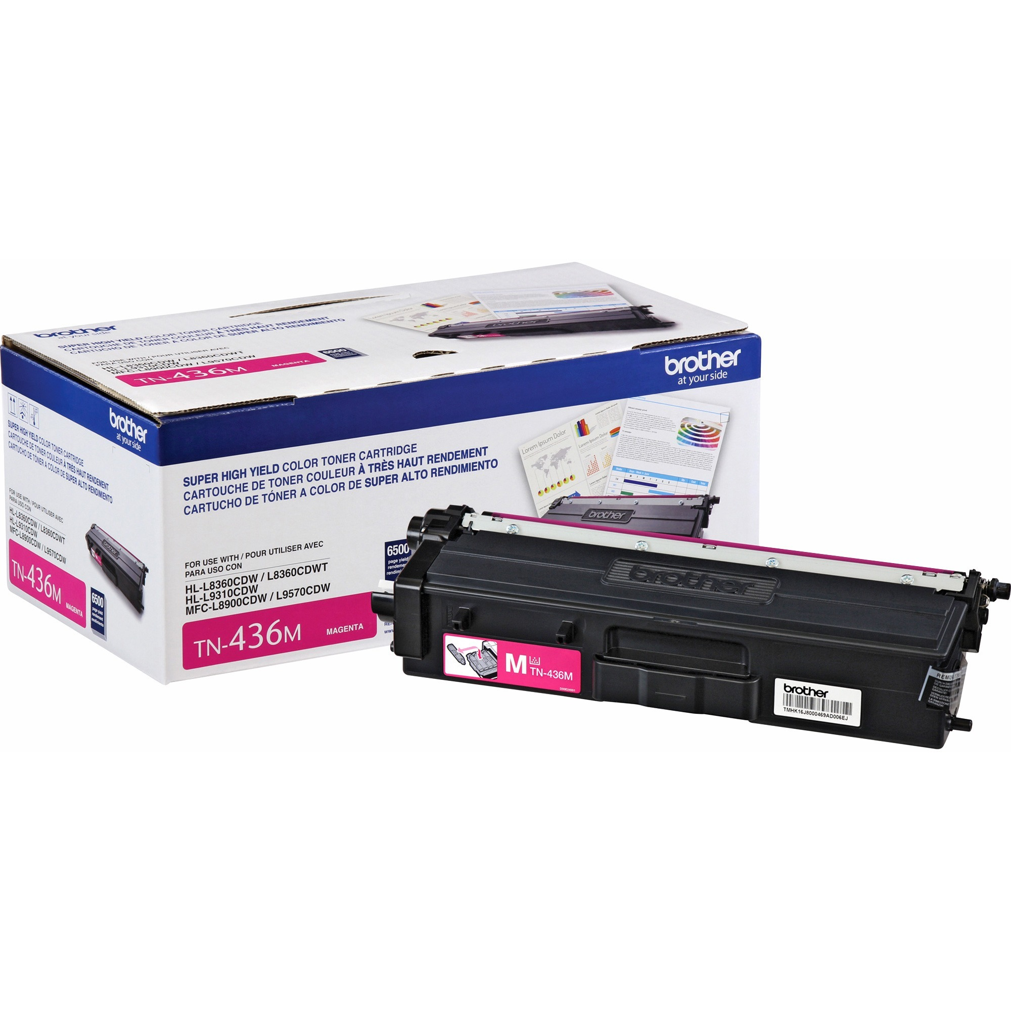 Brother, BRTTN436M, TN436M Toner Cartridge, 1 Each
