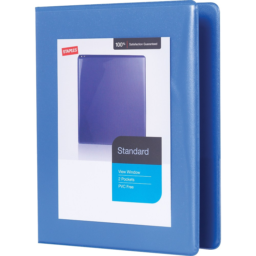 "Staples 1"" Standard 5-1/2"" X 8-1/2"" Mini View Binder W"