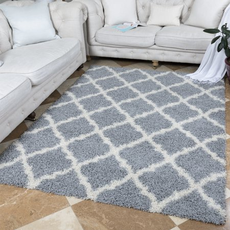 Ottomanson Ultimate Shaggy Contemporary Moroccan Trellis