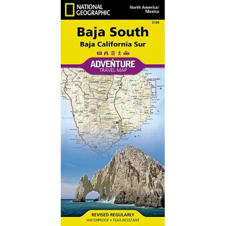 Adventure Map: Baja South: Baja California Sur [mexico] - Folded Map ...