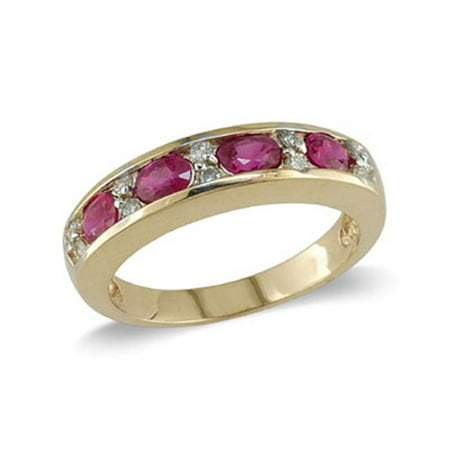 14K Gold Ruby and Diamond Ring Size 6. 5