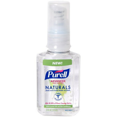PURELL Advanced Hand Sanitizer Naturals with Plant Based Alcohol Pump Bottle - Trial Size - 2 fl oz