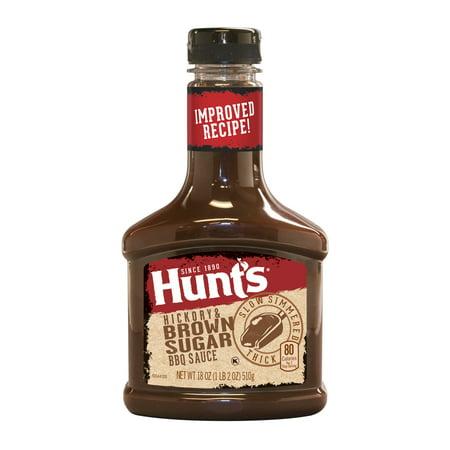 Hickory Honey - (4 Pack) Hunt's Hickory & Brown Sugar BBQ Sauce, 18 oz