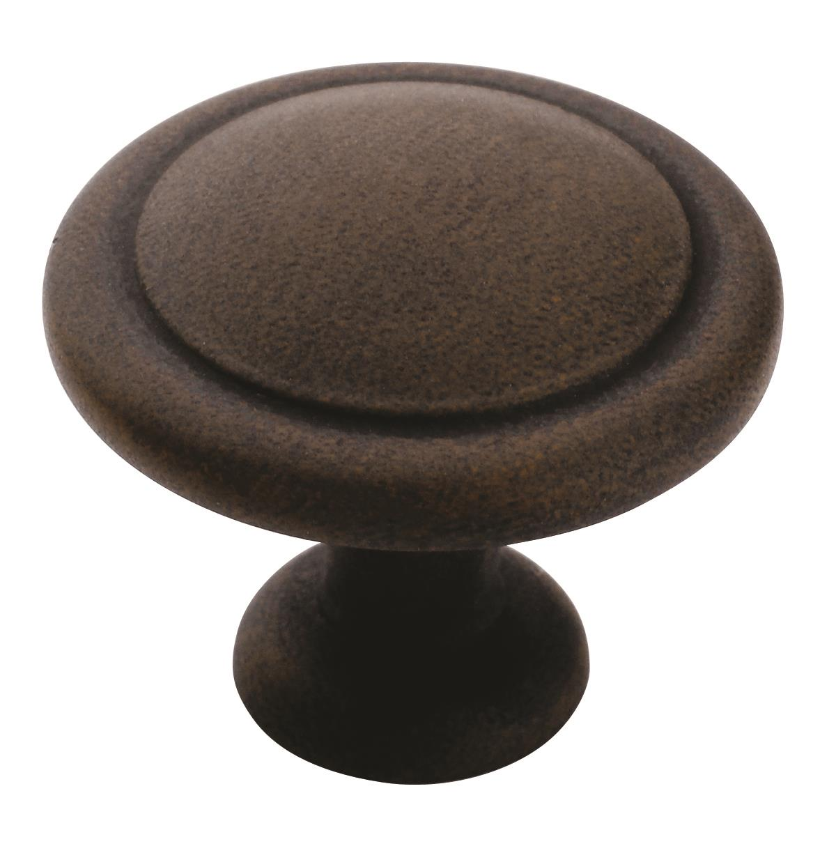 Allison Value 1-1/4 in (32 mm) Diameter Antique Rust Cabinet Knob