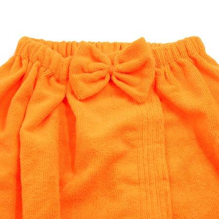 Bright Orange One Size Hook Loop Closure Tube Top Bath Spa Towel Robe Dress - image 4 de 5