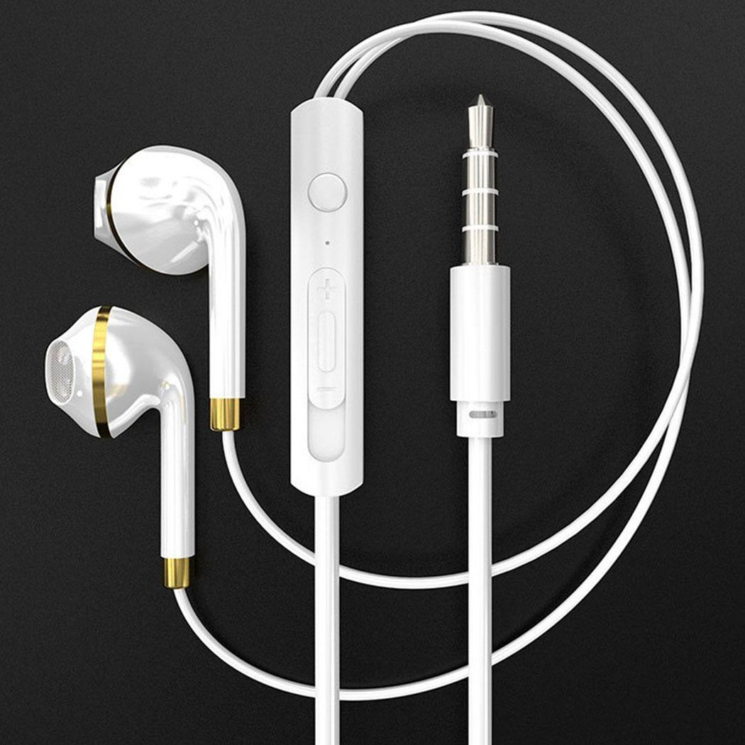 Noise Cancelling Earbuds with Microphone Volume Control Stereo In-Ear Wired Earphones Noise Isolating Earbuds Headphones for Smartphone PC