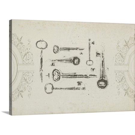 Keepsake Canvas (Great BIG Canvas | Jennifer Goldberger Premium Thick-Wrap Canvas entitled Keepsake Keys)