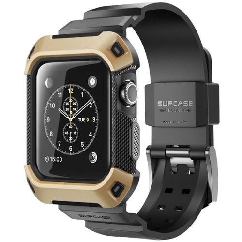 SUPCASE Apple Watch (38mm) Unicorn Beetle Pro Case with Band - Gold