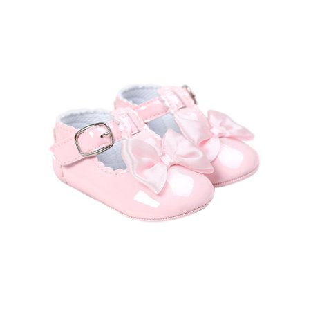 White Dress Shoes Toddler Girl (Toddler Girl Summer Mirror PU Princess Anti-slip Shoes Baby Bow-knot Princess)