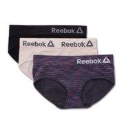 Women's Reebok 193UH03 Seamless Hipster Panty - 3 Pack