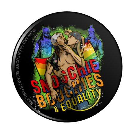 Jay and Silent Bob Smoochie Boochies and Equality Pinback Button Pin
