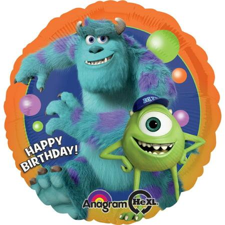 Anagram International Monsters University Birthday Foil Balloon Pack, Multicolor